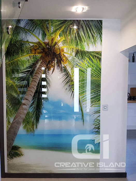 Creative Island printed glass