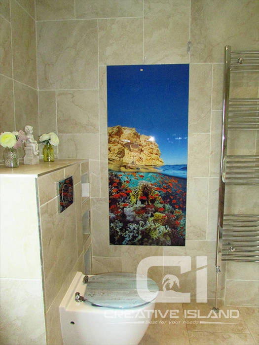 Creative Island prined glass
